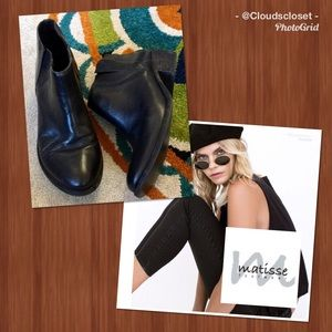 MATISSE ANTHRO NORDIES BUTTER BLACK LEATHER BOOTIE